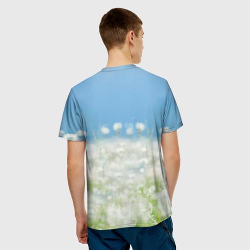 Мужская футболка 3D  Фото 02, Золотистый ретривер