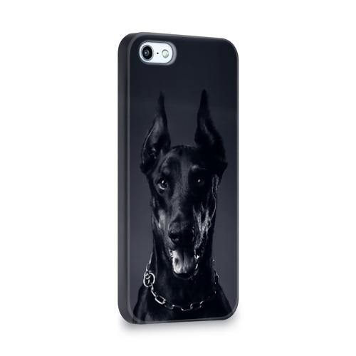 Чехол для Apple iPhone 5/5S 3D  Фото 02, Доберман