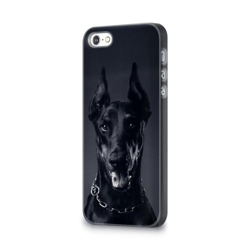 Чехол для Apple iPhone 5/5S 3D  Фото 03, Доберман