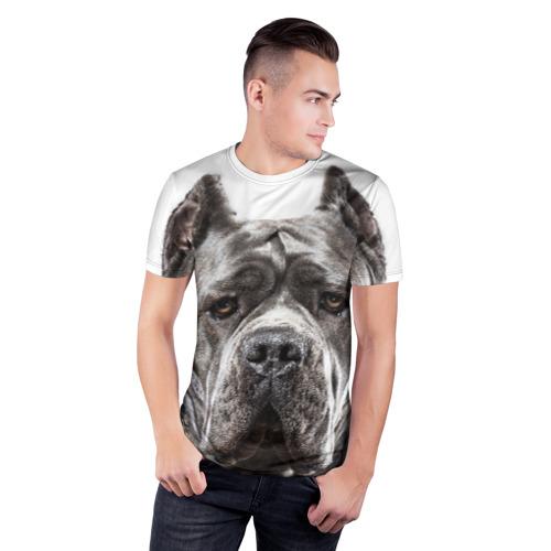 Мужская футболка 3D спортивная  Фото 03, Канне корсо