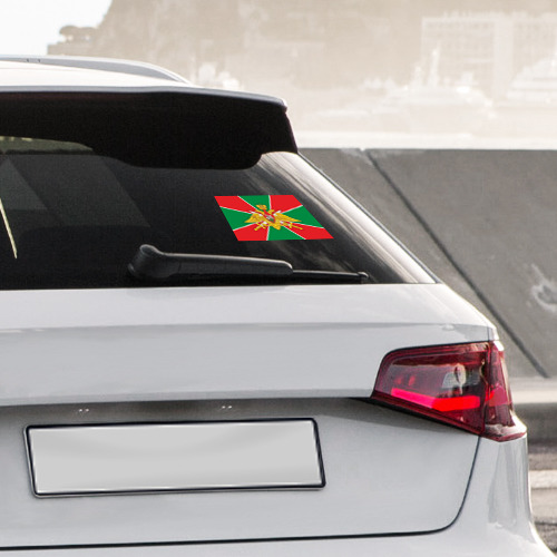 Наклейка на автомобиль Погранвойска РФ Фото 01