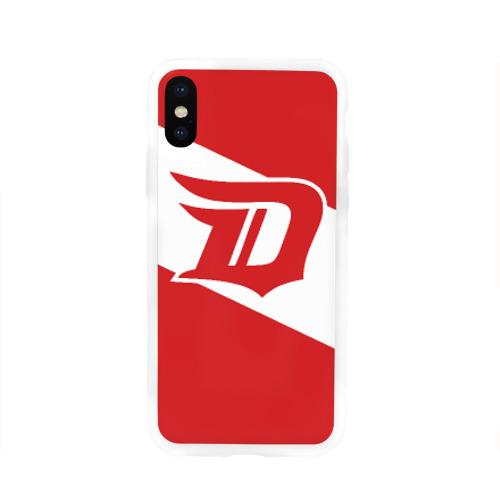 Чехол для Apple iPhone X силиконовый глянцевый  Фото 01, Detroit Red Wings D