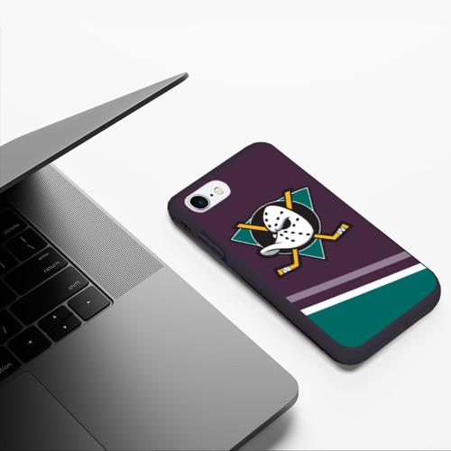 Чехол для iPhone 7/8 матовый Anaheim Ducks Selanne Фото 01