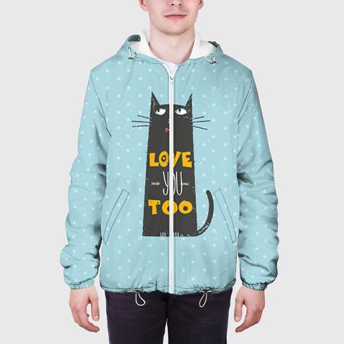 Мужская куртка 3D  Фото 04, Влюбленный кот