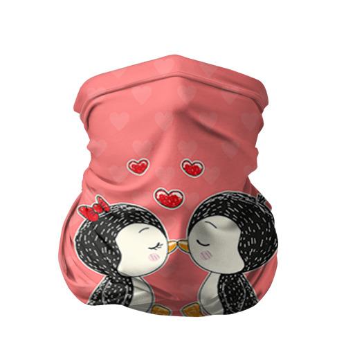 Бандана-труба 3D Влюбленные пингвины