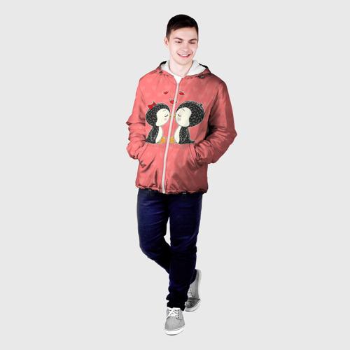 Мужская куртка 3D  Фото 03, Влюбленные пингвины