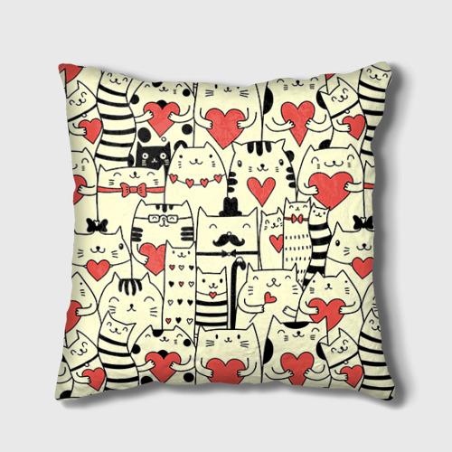 Подушка 3D  Фото 02, Любящие котики
