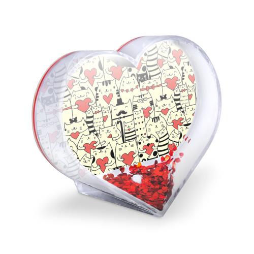 Сувенир Сердце  Фото 03, Любящие котики