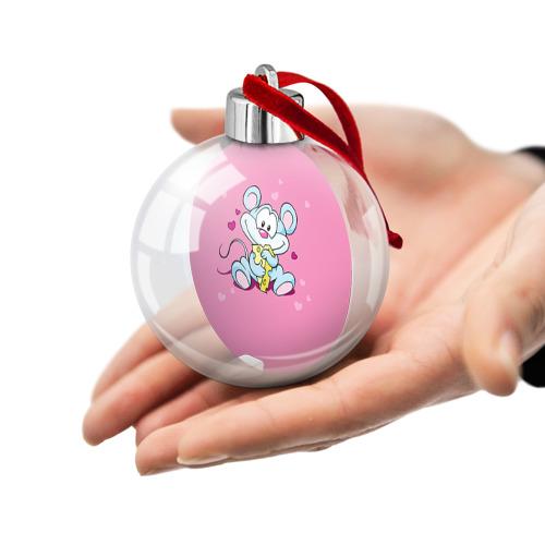 Ёлочный шар  Фото 02, Мышка с сыром