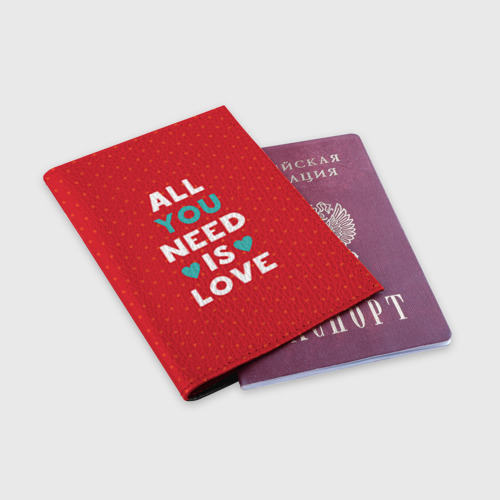 Обложка для паспорта матовая кожа  Фото 03, Любовь