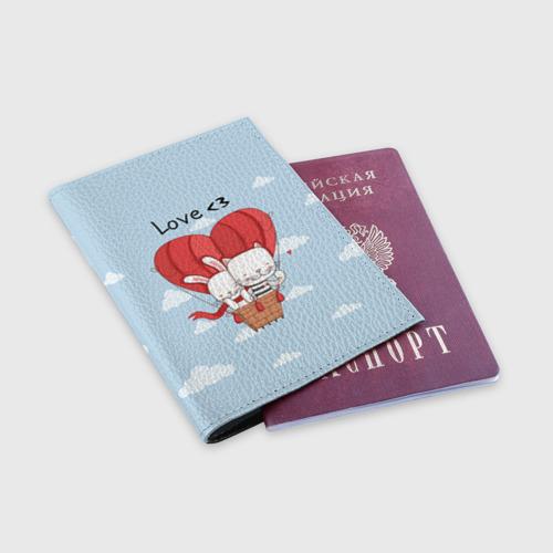 Обложка для паспорта матовая кожа  Фото 03, Влюбленные на шаре