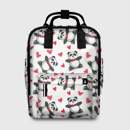 Женский рюкзак 3D Панда и любовь Фото 01