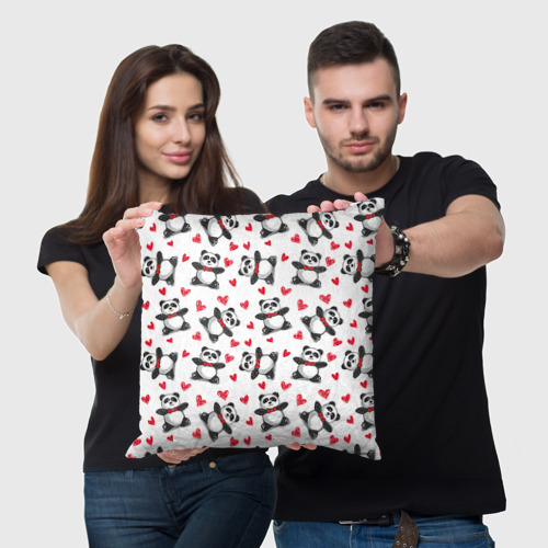 Подушка 3D Панда и любовь Фото 01