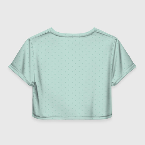 Женская футболка 3D укороченная  Фото 02, Медведь с сердцем