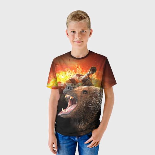 Детская футболка 3D Защитник