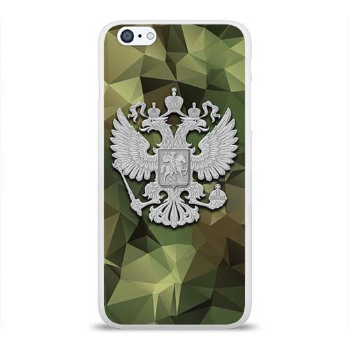 Чехол для Apple iPhone 6Plus/6SPlus силиконовый глянцевый  Фото 01, Камуфляж и герб
