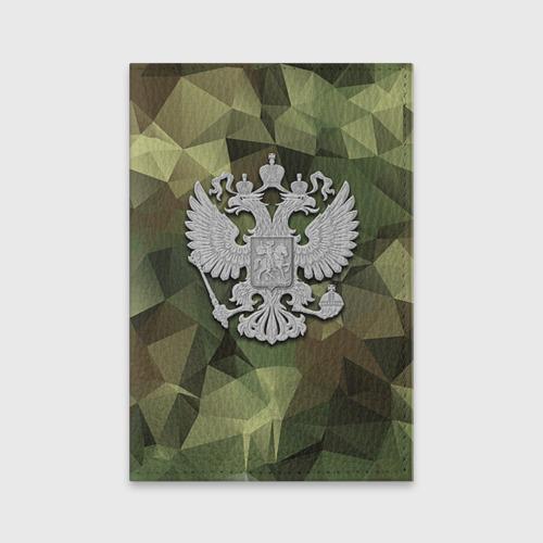 Обложка для паспорта матовая кожа  Фото 01, Камуфляж и герб