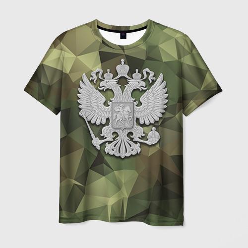 Мужская футболка 3D Камуфляж и герб