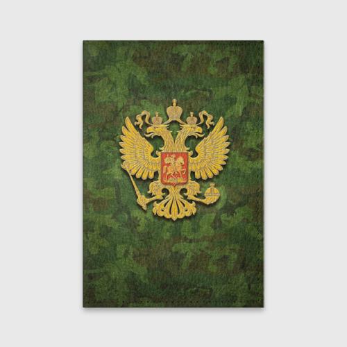 Обложка для паспорта матовая кожа  Фото 01, Герб на камуфляже