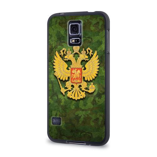 Чехол для Samsung Galaxy S5 силиконовый  Фото 03, Герб на камуфляже
