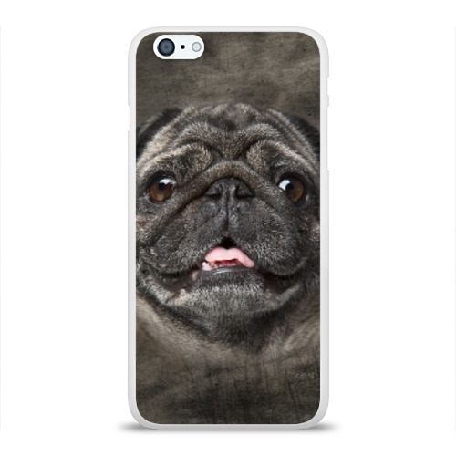Чехол для Apple iPhone 6Plus/6SPlus силиконовый глянцевый Мопс Фото 01