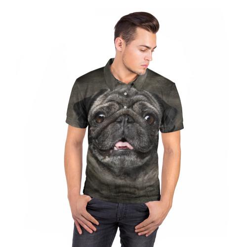 Мужская рубашка поло 3D  Фото 05, Мопс