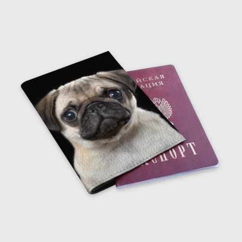 Обложка для паспорта матовая кожа  Фото 03, Мопс