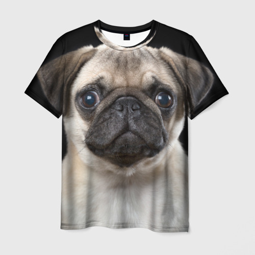 Мужская футболка 3D Мопс