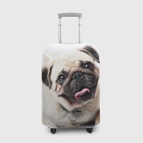 Чехол для чемодана 3D Мопс Фото 01