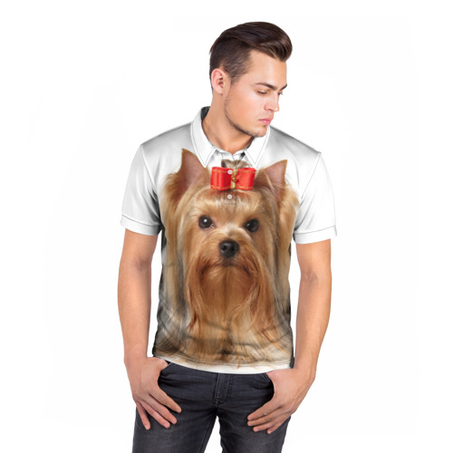 Мужская рубашка поло 3D  Фото 05,  Йоркширский терьер