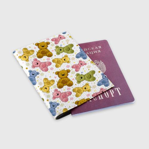 Обложка для паспорта матовая кожа  Фото 03, Медвежата