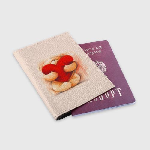 Обложка для паспорта матовая кожа  Фото 03, teddy bear
