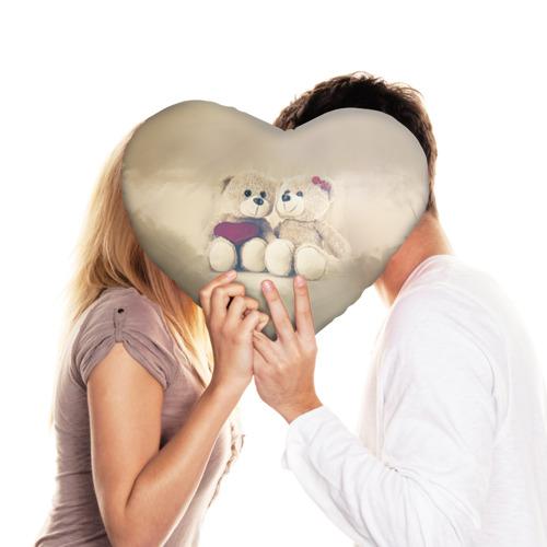 Подушка 3D сердце  Фото 03, Love teddy bears