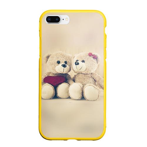 Чехол для iPhone 7Plus/8 Plus матовый Love teddy bears Фото 01
