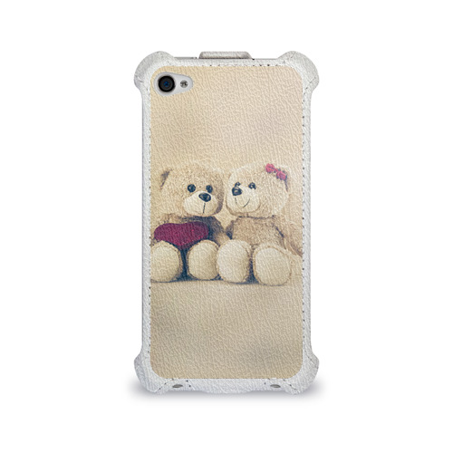 Чехол для Apple iPhone 4/4S flip Love teddy bears