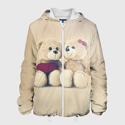 Мужская куртка 3D  Фото 01, Love teddy bears