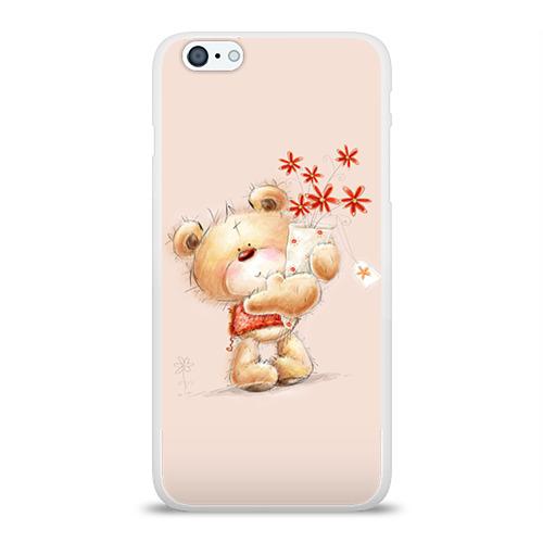 Чехол для Apple iPhone 6Plus/6SPlus силиконовый глянцевый  Фото 01, Медвежонок Тедди