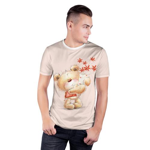 Мужская футболка 3D спортивная  Фото 03, Медвежонок Тедди