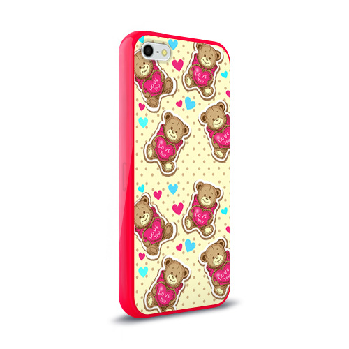 Чехол для Apple iPhone 5/5S силиконовый глянцевый Мишки Фото 01