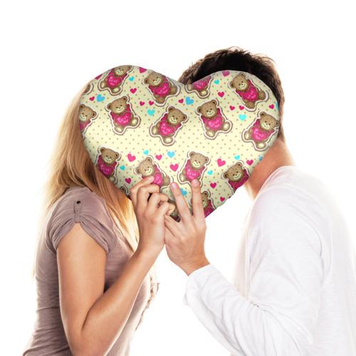 Подушка 3D сердце  Фото 03, Мишки