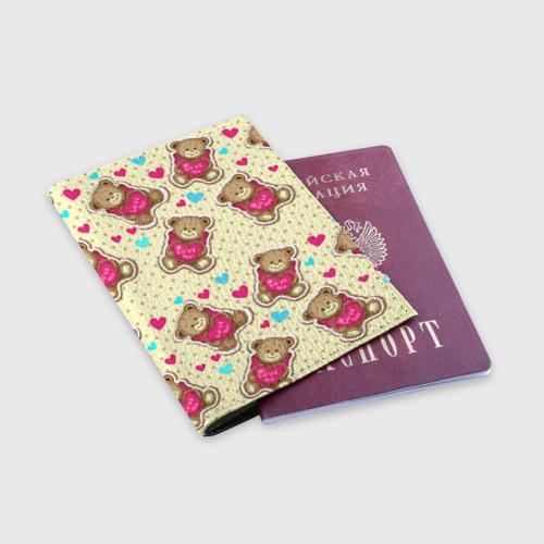 Обложка для паспорта матовая кожа  Фото 03, Мишки