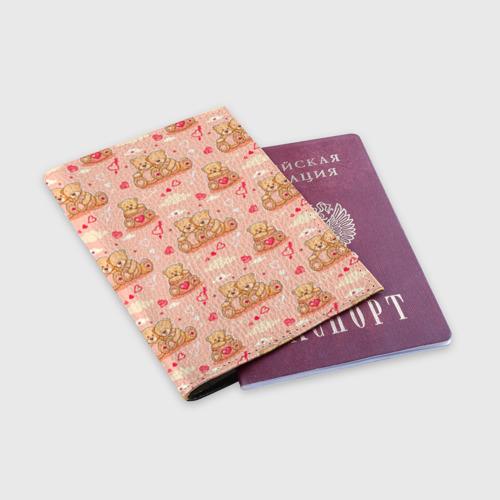 Обложка для паспорта матовая кожа  Фото 03, Love Teddies