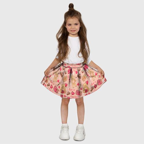Детская юбка-солнце 3D  Фото 03, Медвежата