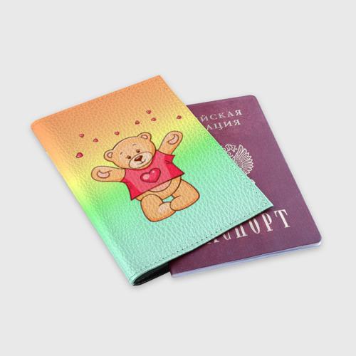 Обложка для паспорта матовая кожа  Фото 03, Funny Bear