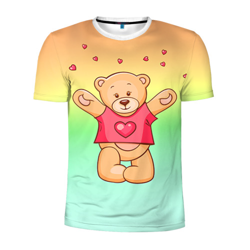 Мужская футболка 3D спортивная  Фото 01, Funny Bear