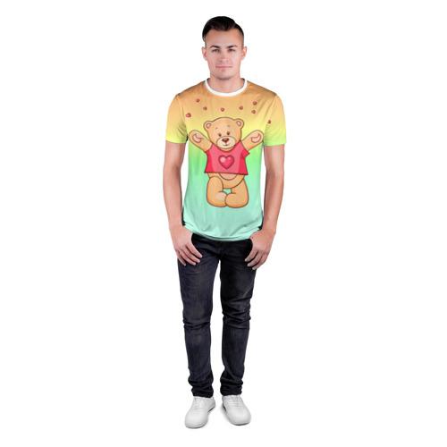 Мужская футболка 3D спортивная  Фото 04, Funny Bear