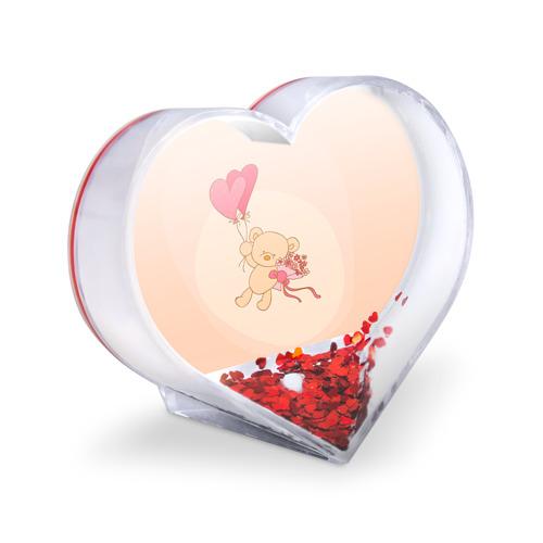 Сувенир Сердце  Фото 03, Мишка на воздушном шарике