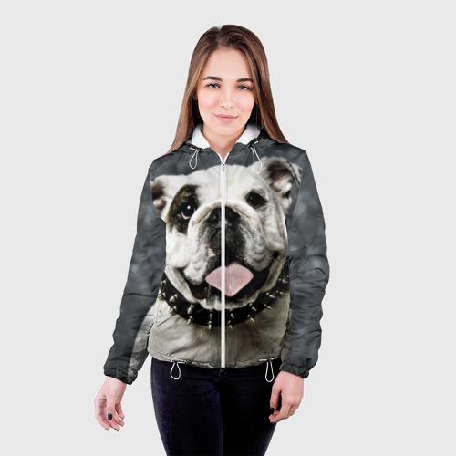 Женская куртка 3D  Фото 03, Английский бульдог