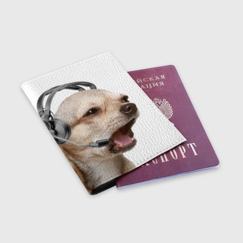 Обложка для паспорта матовая кожа  Фото 03, Чихуахуа
