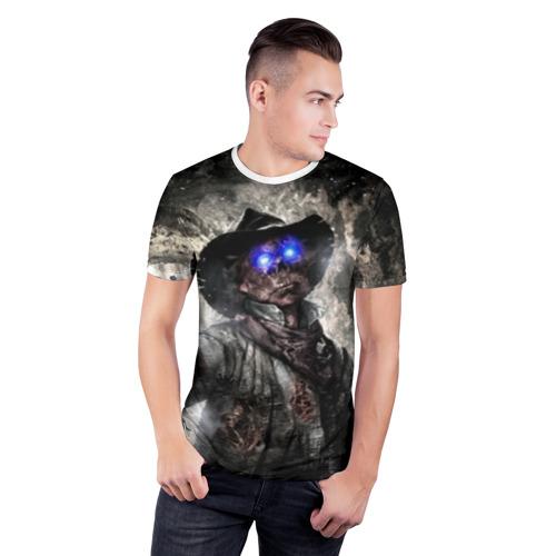 Мужская футболка 3D спортивная  Фото 03, Зомби